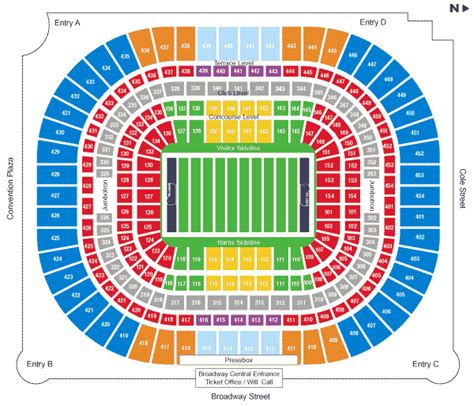 st louis rams seating chart edward jones dome seating chart st louis rams seating