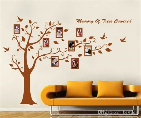 Walpaper Dinding 81 promotion 250 180cm brown photo frame tree family picture diy removable vinyl wall