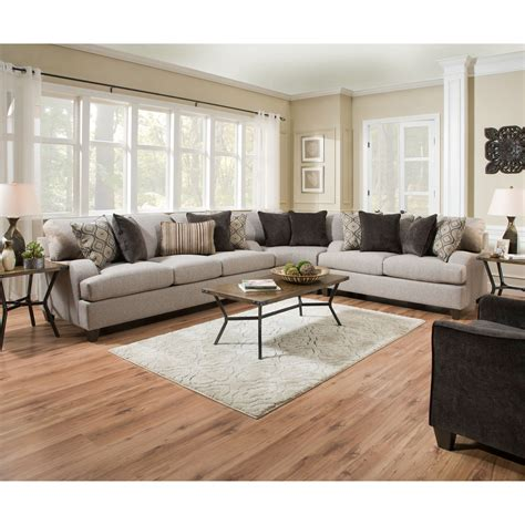 Simmons Upholstery 4002 Transitional Sectional Sofa
