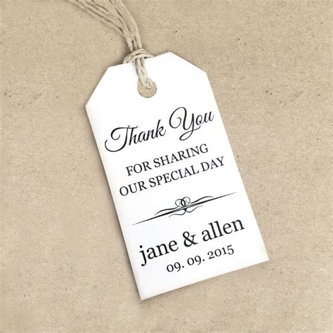 thank you card tag template 17 best ideas about wedding tags on chocolate