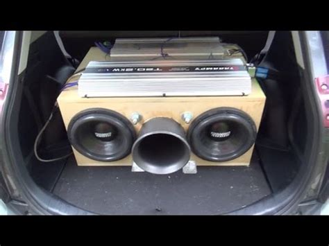 "two 12"" subs on 20,000 watts! youtube"