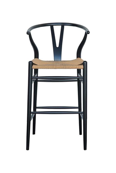 wishbone bar stool white beech chestnut  black abide interiors
