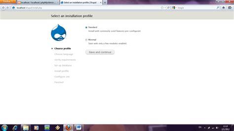 membuat website localhost bukalah browser anda dan ketik http localhost drupal