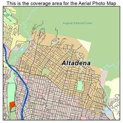 altadena california map aerial photography map of altadena ca california