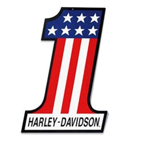 Emblem Logo Harley Davidson Nomor 1 Number One best logo designs using numbers