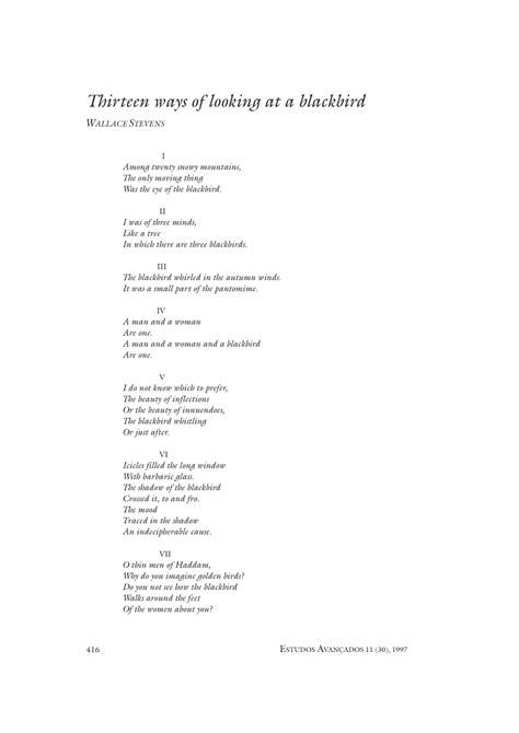 (PDF) Thirteen ways of looking at a blackbird
