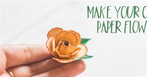 Make Your Own Paper Flowers - antilight craft make your own paper flowers diy for