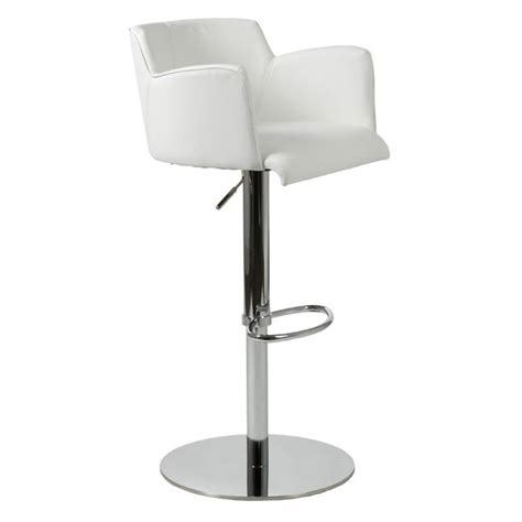 White Bar Stools With Backs And Arms | 35 stylish modern adjustable white leather bar stools