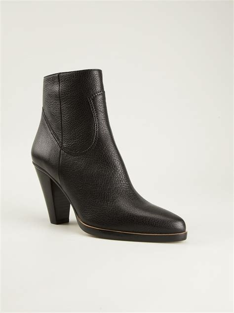 chlo 233 classic ankle boots in black lyst