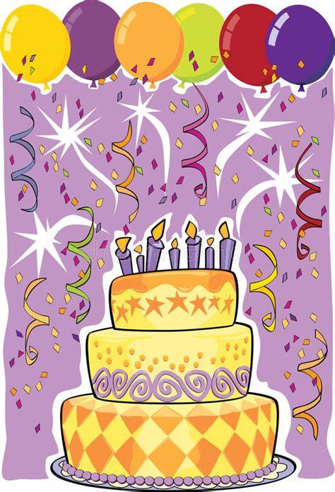 clipart compleanni torta di compleanno illustrazione vettoriale