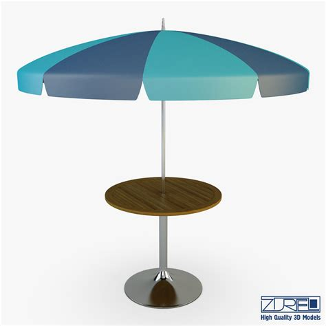 Patio Table Parasol Patio Table Umbrella V 3d Obj