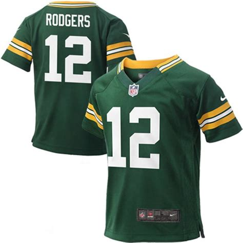 packers jersey nike nfl green bay packers aaron rodgers boy s replica football jersey