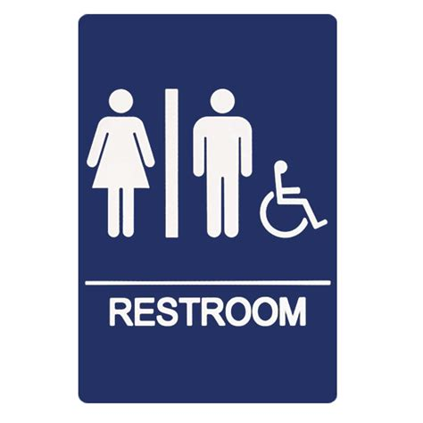 handicap bathroom sign ada braille room signs signs more inc