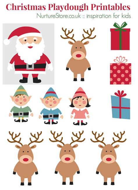 printable xmas pictures father christmas printables for playdough nurturestore