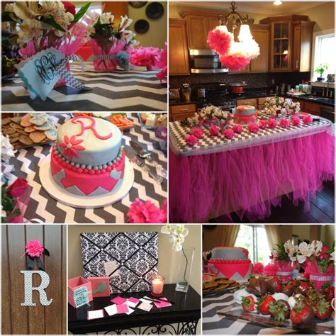 Pink And Grey Chevron Baby Shower Decorations by Baby Shower Decor For Baby In Grey And White Chevron