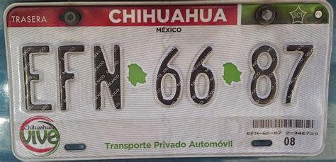 refrendo de las las placas edo 2015 placas de autos de m 233 xico y otras cos 999 as chihuahua