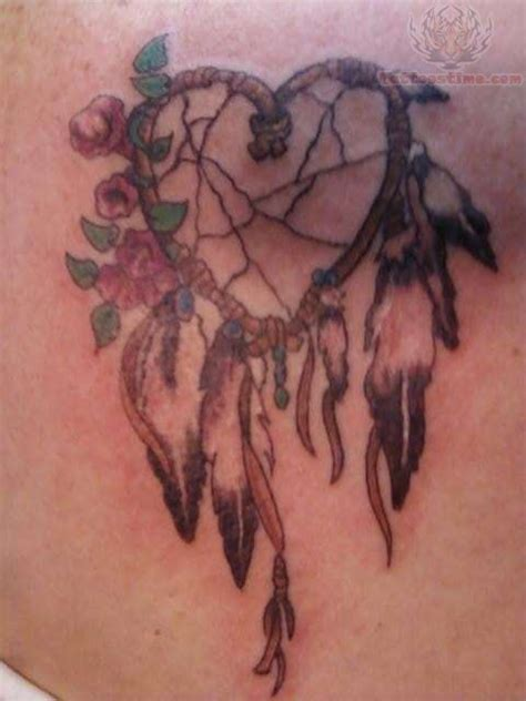 heart dreamcatcher tattoo catcher