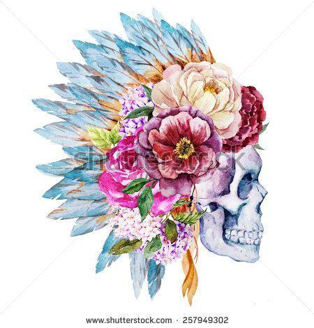 bull skull watercolor google search water pinterest