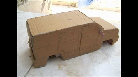 How To Make A 3d Car Out Of Paper - cardboard cars part 1