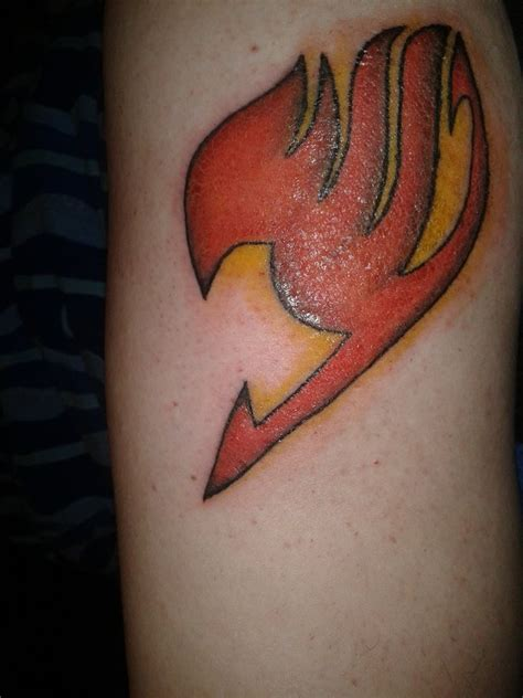 red ink 3d fairy tail tattoo tattooshunt com