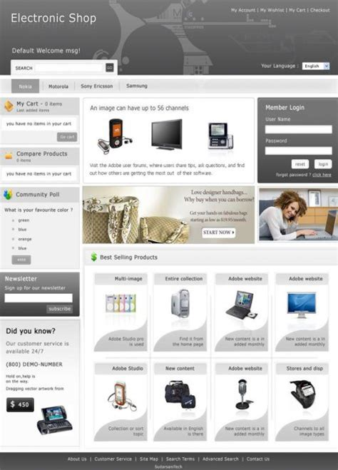 ecommerce html templates 35 free high quality e commerce templates smashing magazine