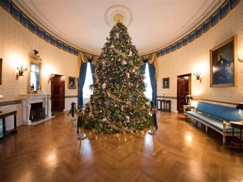 1996 blue room christmas tree white house tour 2014 white house 2014 hgtv