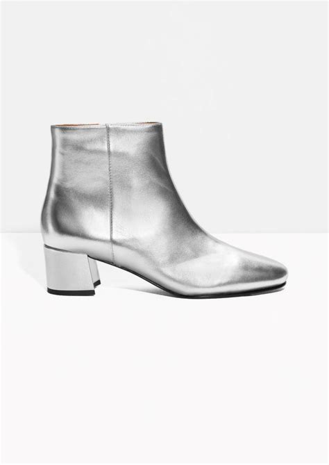 silver ankle boots silver ankle boots 28 images laurent silver sequined