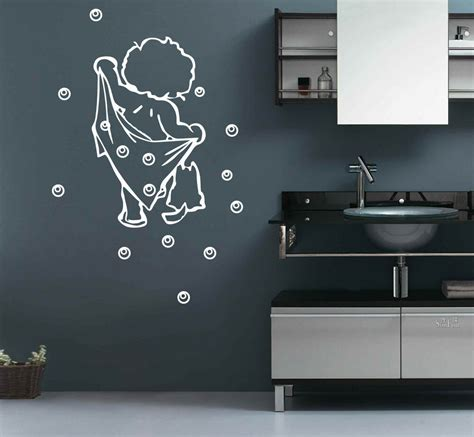 Bathroom Wall Appliques - bath bathroom removable diy wall stickers decal uk