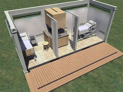 Floor Plan Sketchup Shipping Container Health Clinics For Developing Countries