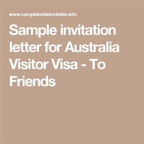 invitation letter for tourist visa australia sle sle invitation letter for australia visitor visa to