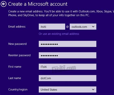 how to create microsoft account microsoft sign up www create new user account in windows 8