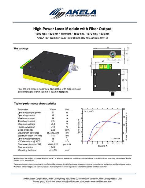 laser diode module fiber coupled 1800nm 1875nm 5000mw laser module akela