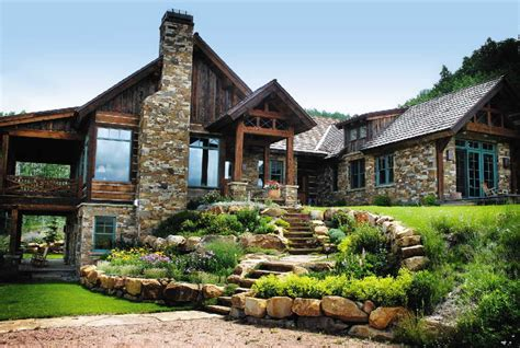 architecture   style  stone house plans