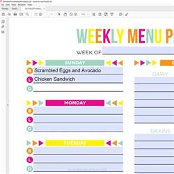 Free Meal Plan Calendar Printable search results for 21 day fix meal plan printable