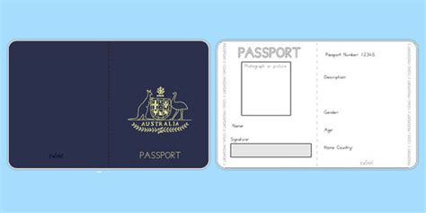 pretend passport template australian passport template twinkl geography