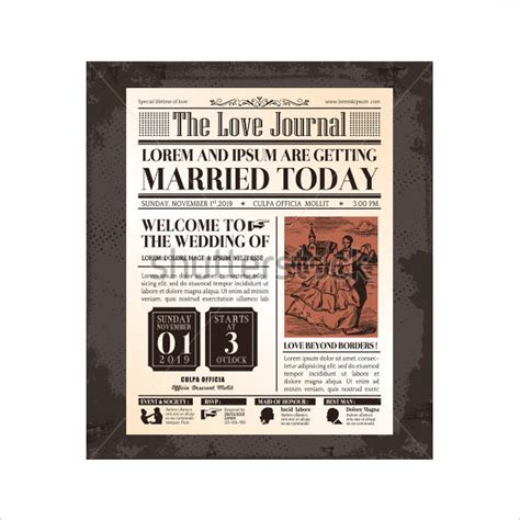 Wedding Newspaper Template by Newspaper Template 20 Jpg Psd Format Free Premium Templates