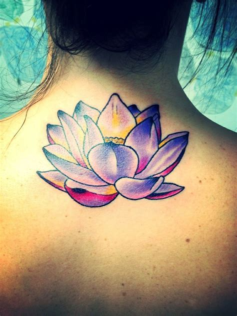 lotus flowers tattoo pretty purple lotus flower tattoos