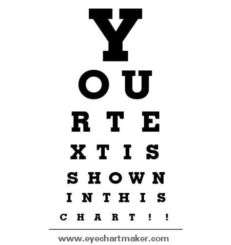 printable custom eye chart aprons and apples diy handmade doctor play kit tutorial