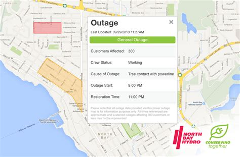california power outage map bay hydro launches new power outages map clark