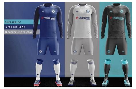 Jersey New Chelsea Home chelsea jersey 2017 2018 home away and third nike kits