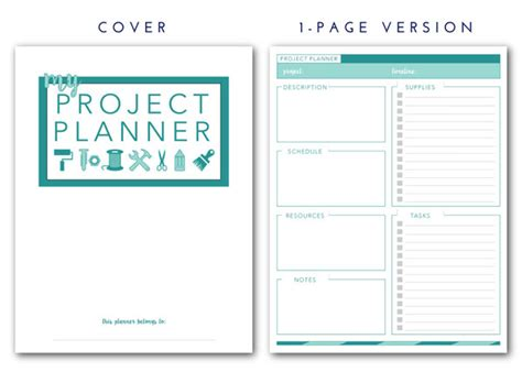 printable project planner free printable project planner the homes i have made