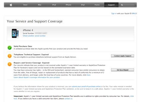 apple warranty how to check your apple service and support coverage