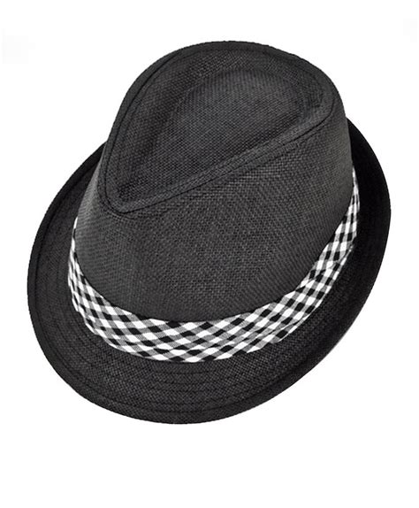 Hat With Paper - selininy s black poly paper fedora hat with checkered
