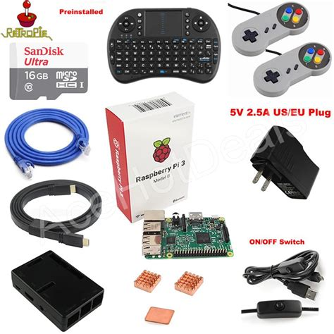 Raspberry Pi 3 Model B Retropie raspberry pi 3 model b retropie console kit ebay
