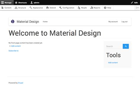 bootstrap themes paper how to integrate material design with drupal drupal sun