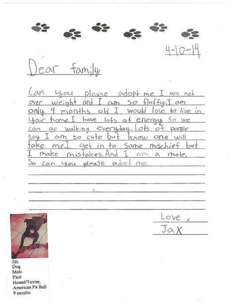 thank you letter to 4th grade 4th graders write sweet and honest letters to help shelter