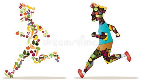 vegetables esports fruit and vegetable icon in sportsman human shape are