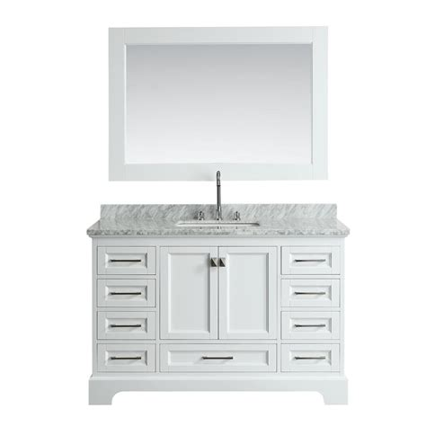 design elements vanity home depot design element omega 54 in w x 22 in d vanity in white with marble vanity top in white with