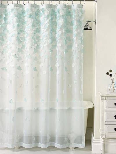 sheer shower curtains martha stewart collection falling petals shower curtain