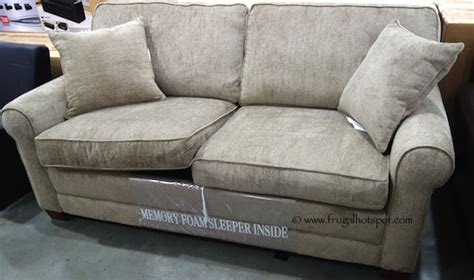 costco chenille fabric sofa with sleeper 649 99